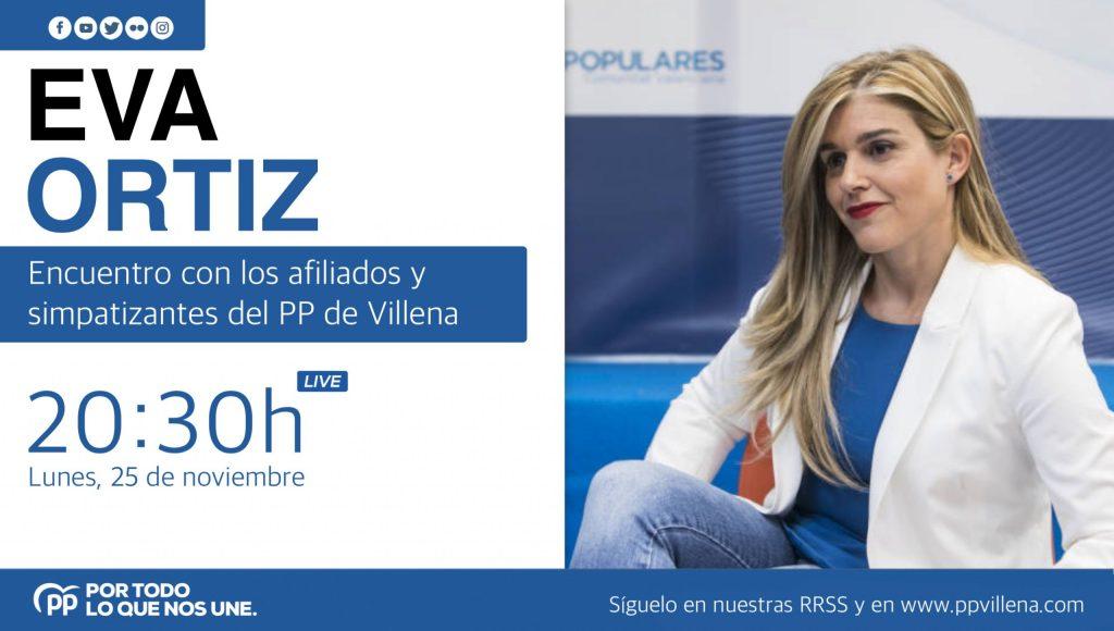 Eva Ortiz, secretaria general del PP valenciano, en Villena - El Periódico de Villena