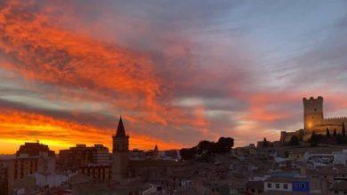 puesta de sol villena