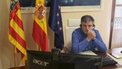 Alcalde Villena videoconferencia