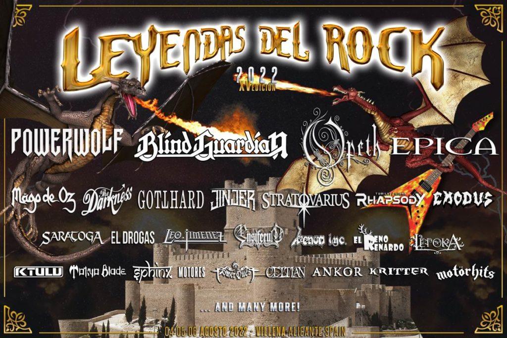 Leyendas del Rock 2022: Powerwolf, Blind Guardian, Opeth, Epica, The Darkness, Stratovarius Leyendas-del-Rock-2022-avance-cartel-1024x683